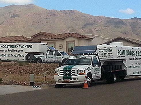 Amerus Roofing Contactor Trucks