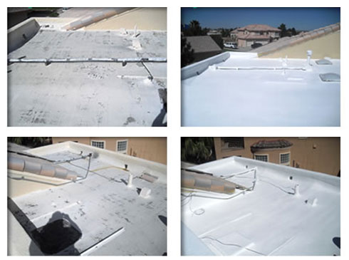 Repaired roofs